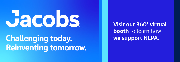 Jacobs Banner: Visit the 360 virtual booth to learn how Jacobs supports NEPA