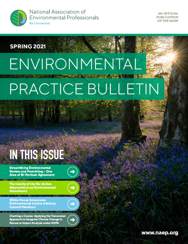 NAEP Environmental Practice Bulletin: Spring 2021 Issue